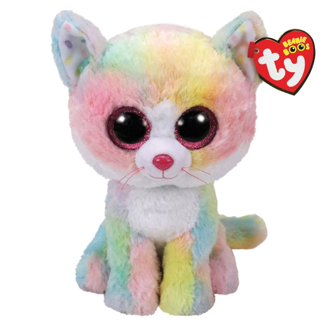 Ty Beanie Boo Medium Fluffy the Cat Plush Toy  4d7c9c5215d5