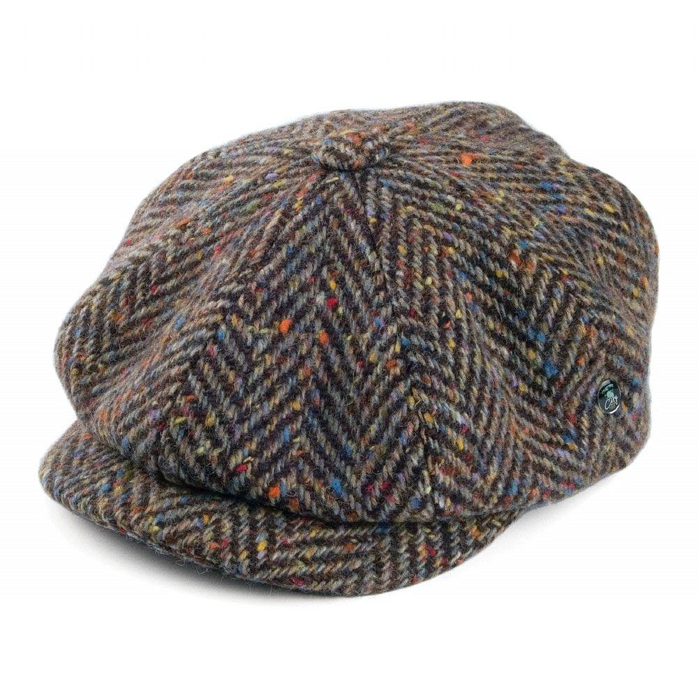 7650f4b67f676 City Sport Donegal Tweed Newsboy Cap - Brown-Tan   hats&caps in 2019 ...