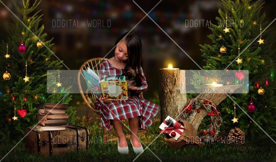 Christmas Composite/ Digital Background/ Holiday backdrop/premade