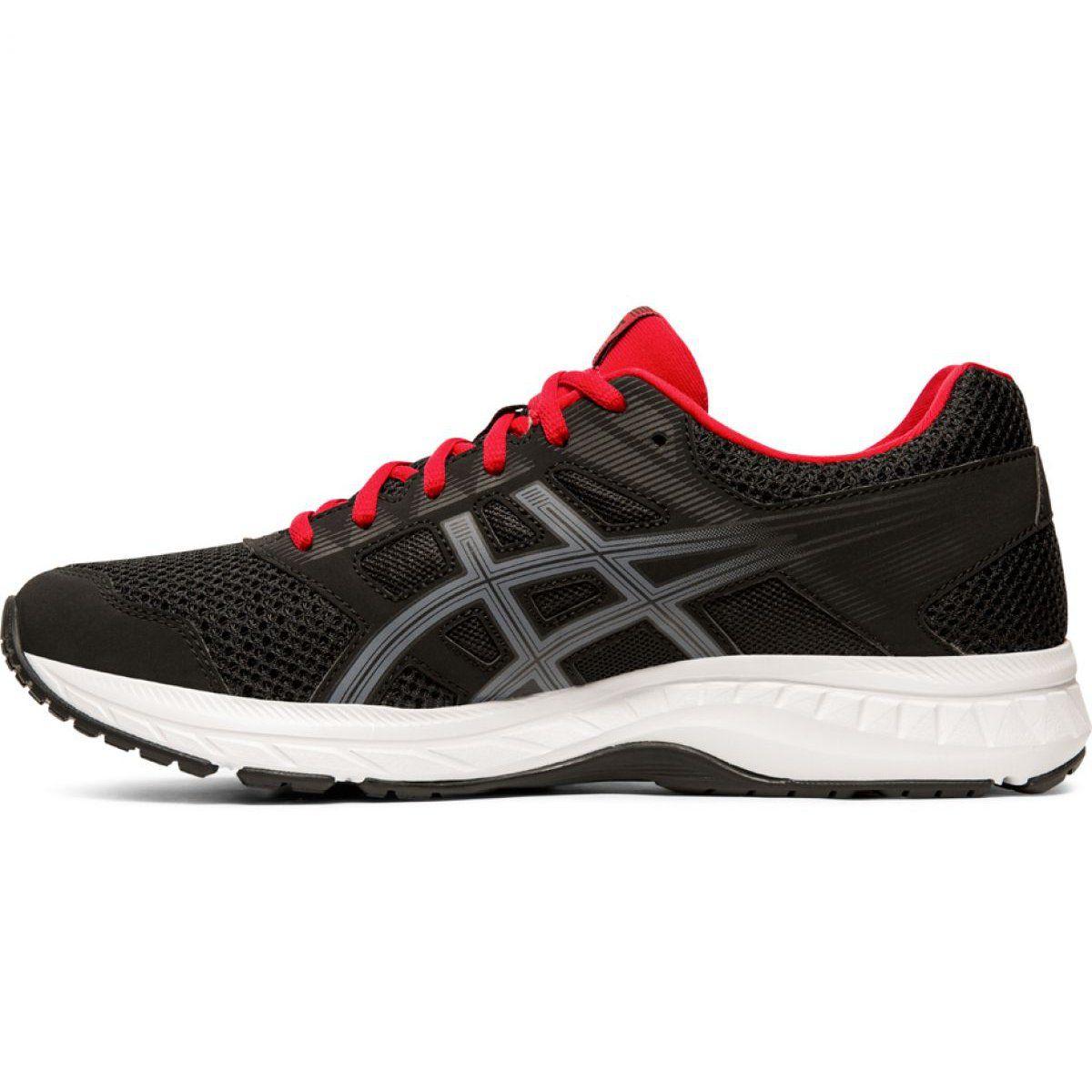 Treningowe Bieganie Sport Asics Buty Asics Gel Contend 5 M 1011a256 005 Czarno Czerwone Asics Running Shoes Asics Shoes Asics
