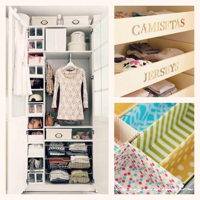 Ordenar armarios peque os organizaci n pinterest - Organizacion armarios ...