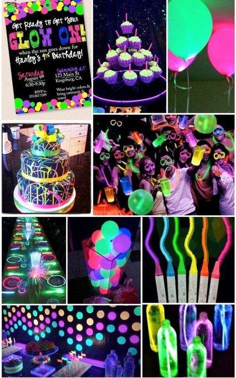 Ideas para una fiesta de 15 años Neón #fiestade15años