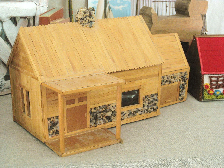 Popsicle Stick Log Cabin Designs | Popsicle Stick Cabin