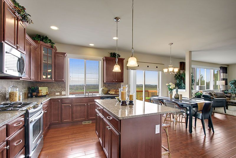Kitchen From The Lennar Azurite Home At Valtera View In Lake Stevens