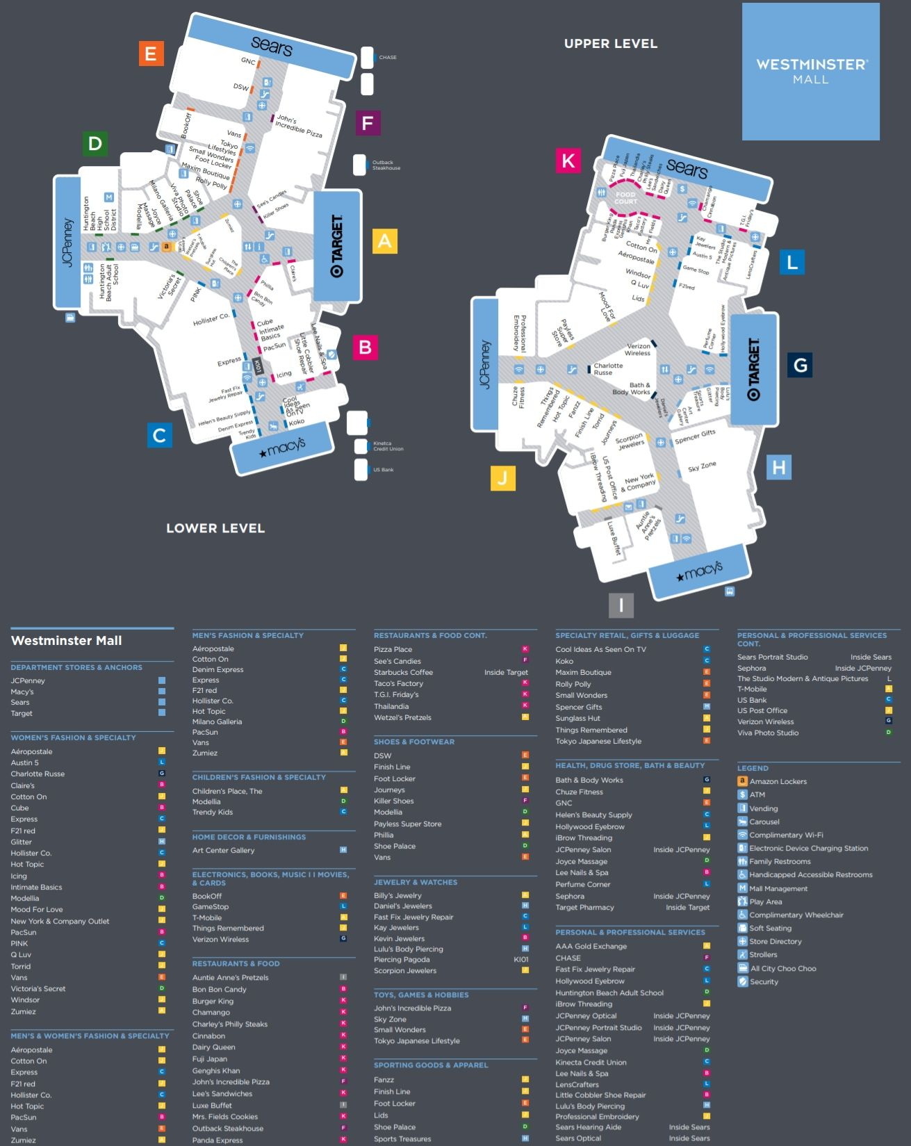 Westminster Mall Map Pinterest