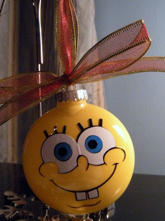 Spongebob Christmas Ornament by scrappingwithlisa on Etsy, $12.00