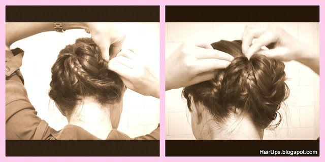 Fishtail Braid Sock Bun Chignon upstyle hairdo hairstyling hairup - Ballerina Bun
