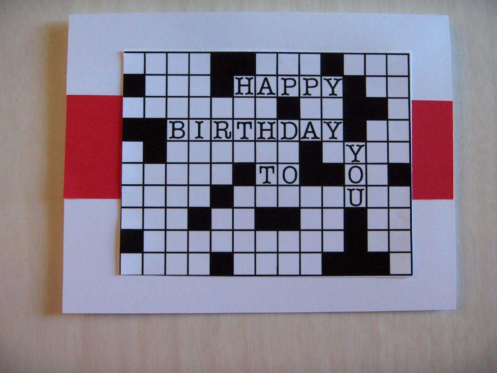 Rhapsody Of Cacophony Dad S Crossword Birthday Card Birthday Cards Dad Birthday Card Cards