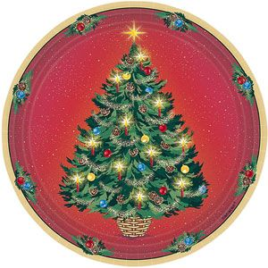 Warmth Of Christmas Dessert Plates With Images Christmas Decorations Tree Plates Christmas Plates