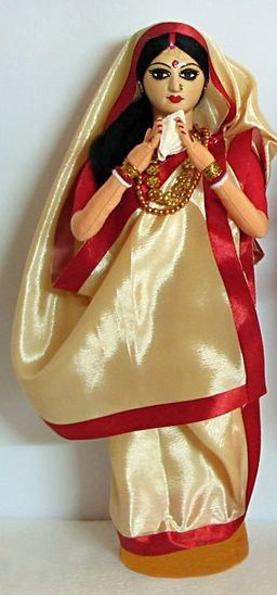 Bengali Woman in Traditional wear for pooja