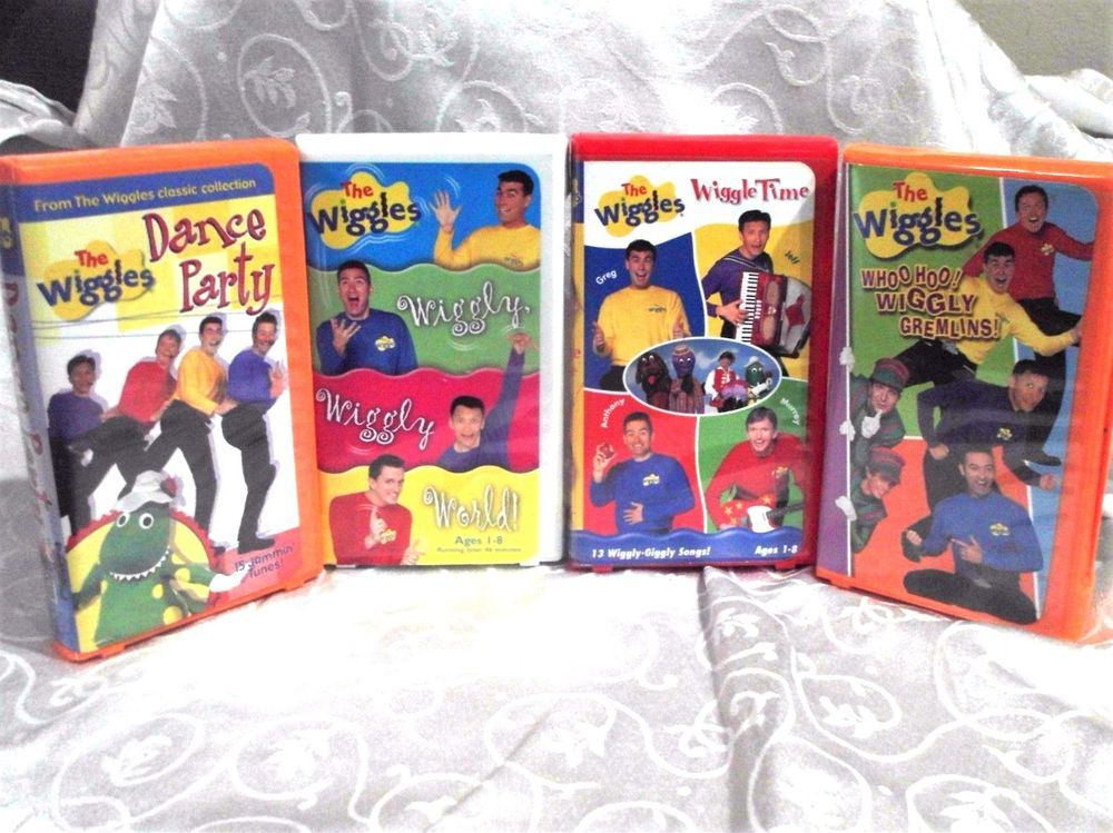 Vintage wiggles collection of 4 vhs classic shows tapes sing