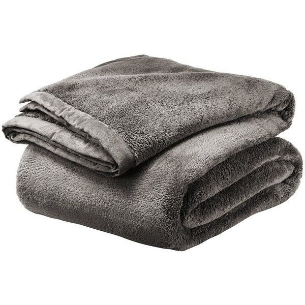 threshold fuzzy blanket 40 liked on polyvore featuring home