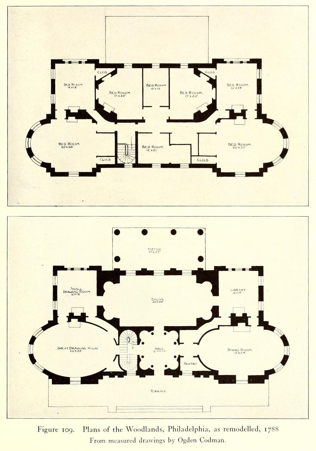 Plan Of The Woodlands Philadelphia Architectural Inspiration