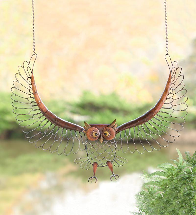 Flying Antique Metal #Owl Wall Art #GrandGardens | Beautiful Gardens ...