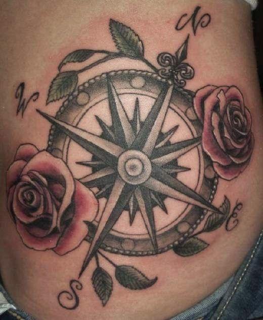 Tatuajes De Brujulas Diseno De Tatuaje De Compas Tatuajes Brujula Rosa De Los Vientos