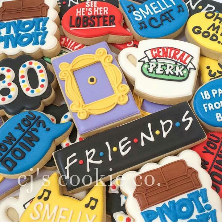 Cjs cookie co friends theme cookies for a 30th birthday
