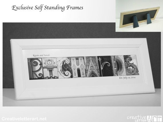 Framed Wedding Sign Last Name Picture Frame by CreativeLetterArt ...