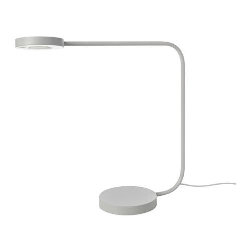 YPPERLIG LED table lamp light gray