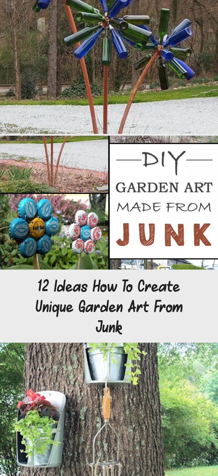 12 Ideas How To Create Unique Garden Art From Junk • Garden Decor