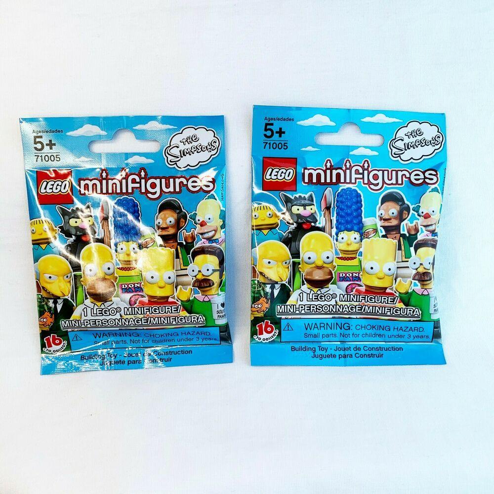 Lego Simpsons Series 1 Minifigures Blind Bag X 2 Unopened Lego In 2020 Lego Simpsons Mini Figures Blind Bags