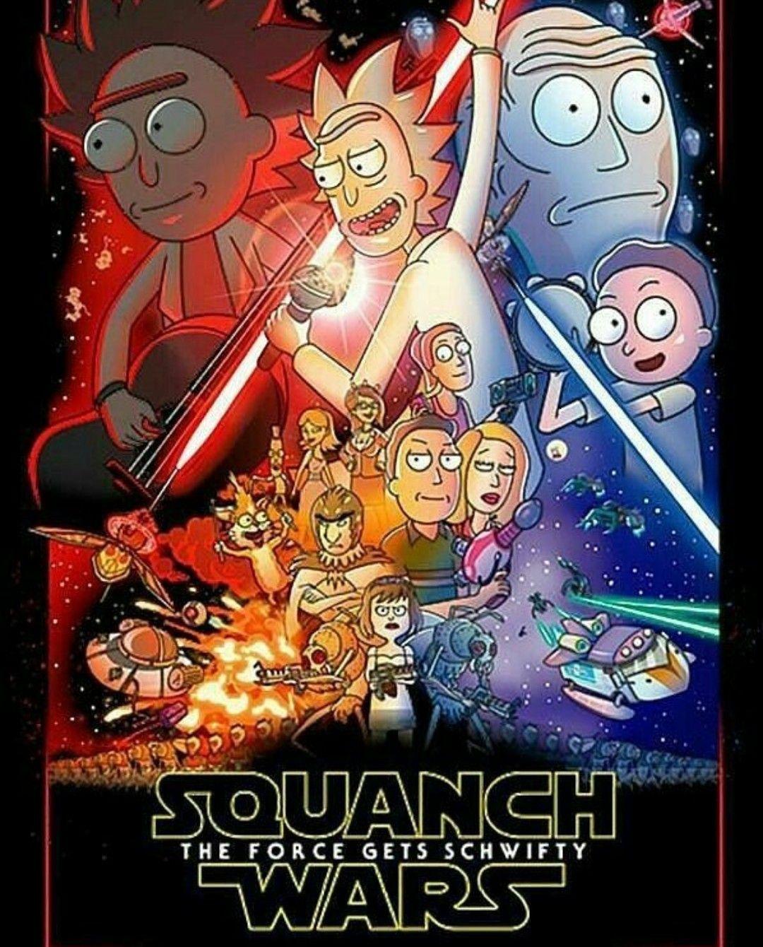 Rick And Morty Star Wars Mash Up Rick And Morty Poster Rick I Morty Rick And Morty