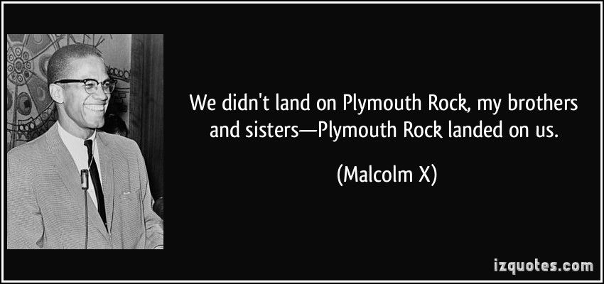 malcolm x plymouth rock speech
