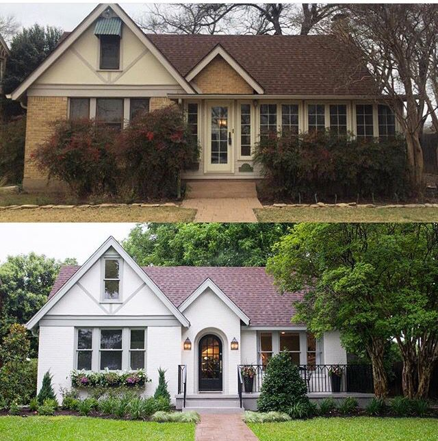 before and after fixer upper home yards gardens in 2019 rh pinterest com