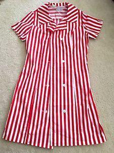 f1f0fdc7 RARE Vintage KFC Striped Uniform Dress M Lowell Judson   eBay ...
