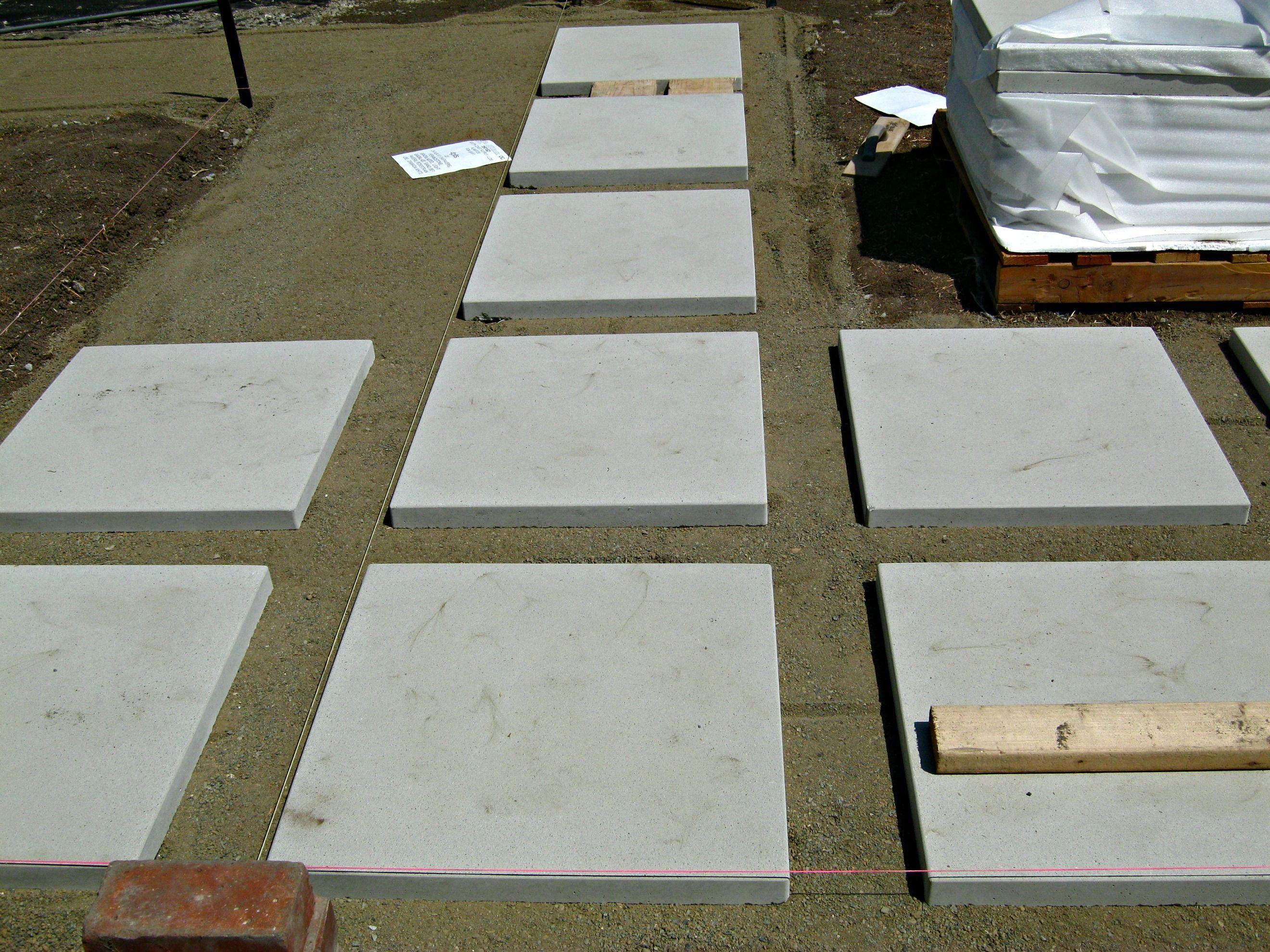 Captivating Excellent Ideas Concrete Squares Beauteous How To Install 24quot Pavers