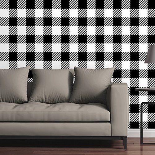 Canvas On Demand Removable Wallpaper Tile Buffalo Plaid