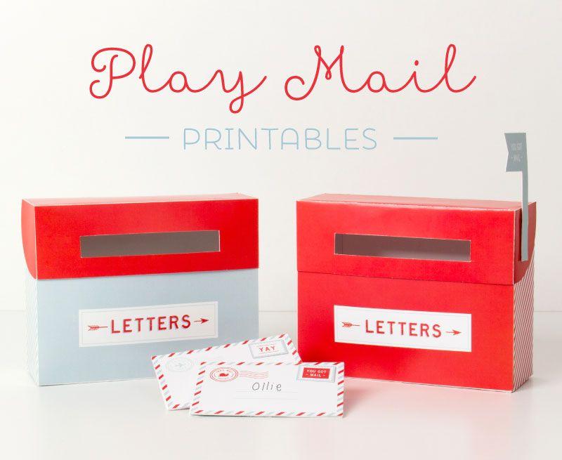 free mail box printables printables for kids pinterest mail boxes free mail and snail mail. Black Bedroom Furniture Sets. Home Design Ideas