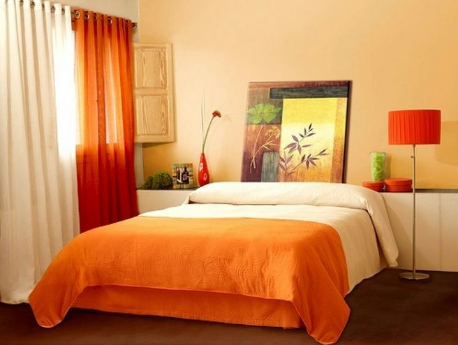 Simple and cheap decorating ideas for small bedrooms with orange ...