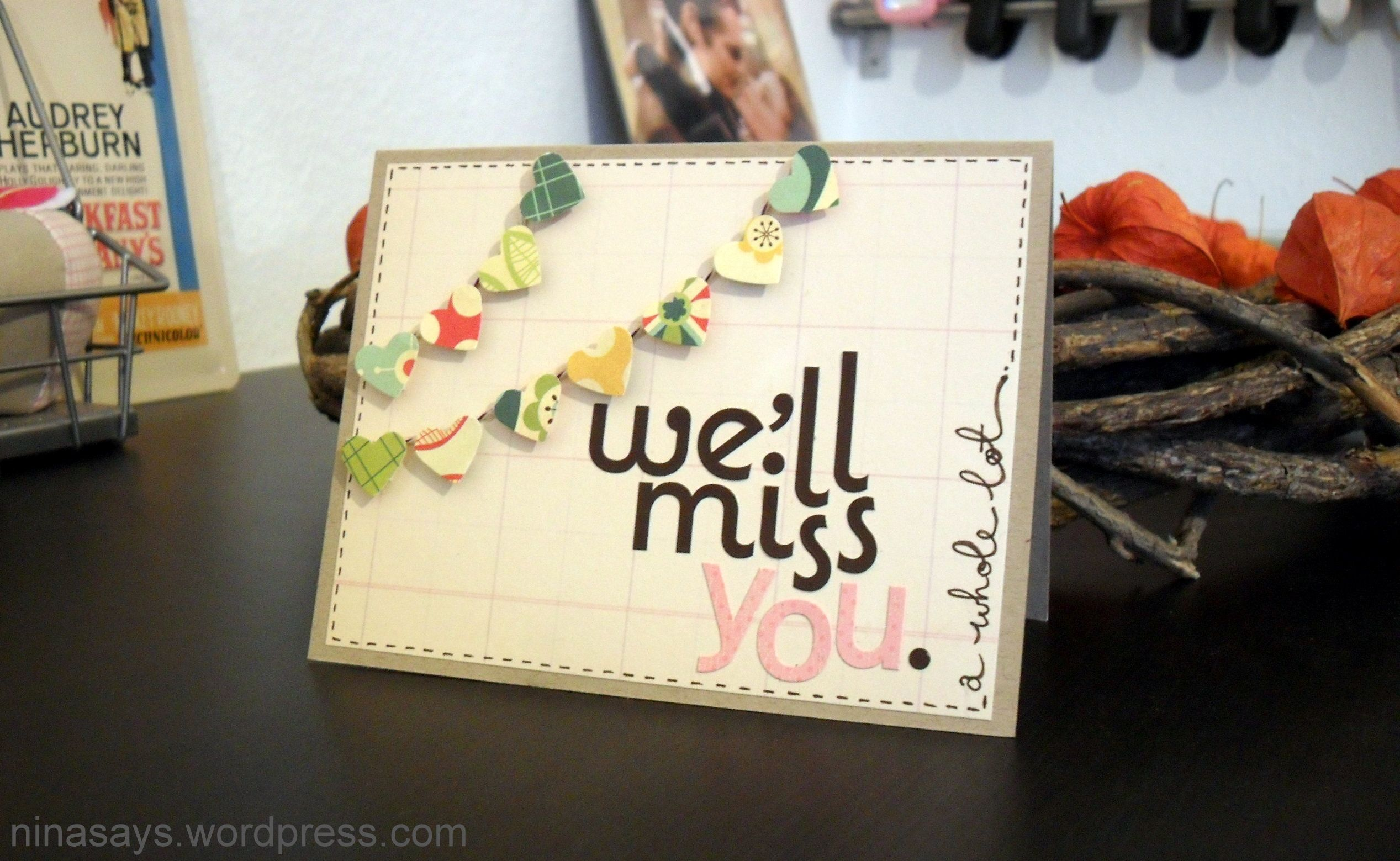 Weull miss you card this blog is great pocztówki pinterest
