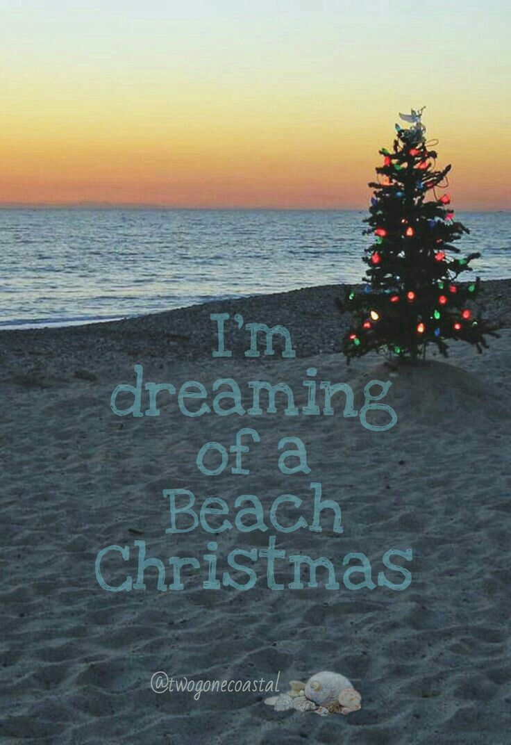 Dreaming of a Beach Christmas | Oh, look.....me in 2018 | Pinterest ...