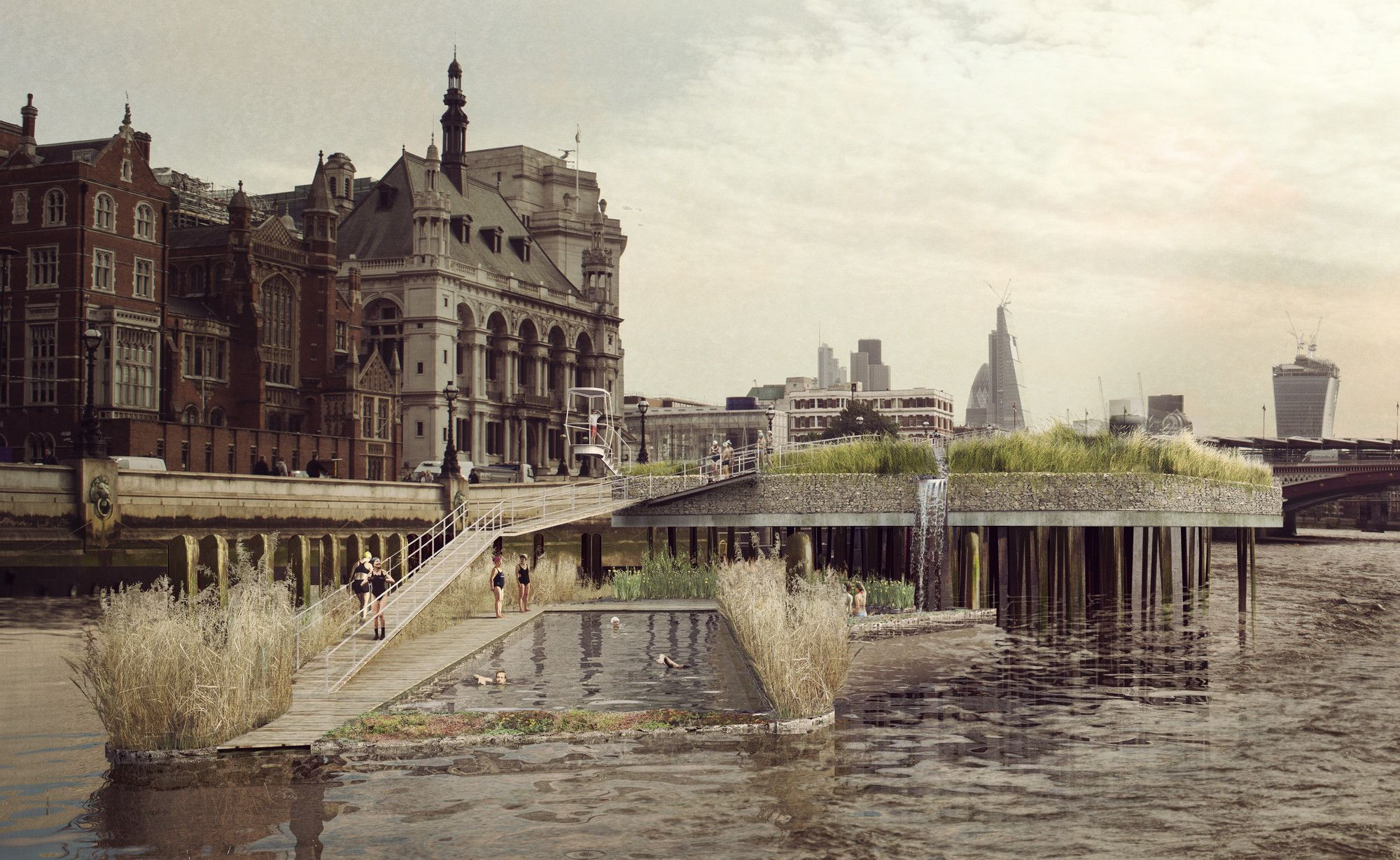 Gallery - Studio Octopi Begins Crowdfunding Campaign For A Lido On London's River Thames - 5