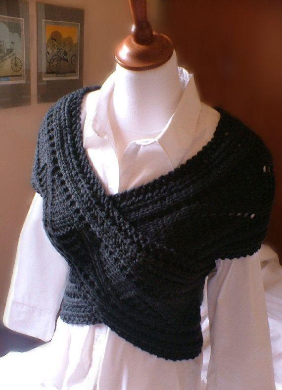 Knitting Pattern Knit Sweater cowl Vest Waistcoat pattern PDF ...