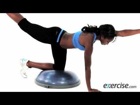 bosu ball kneeling ab crunch  abs workout  bosu workout