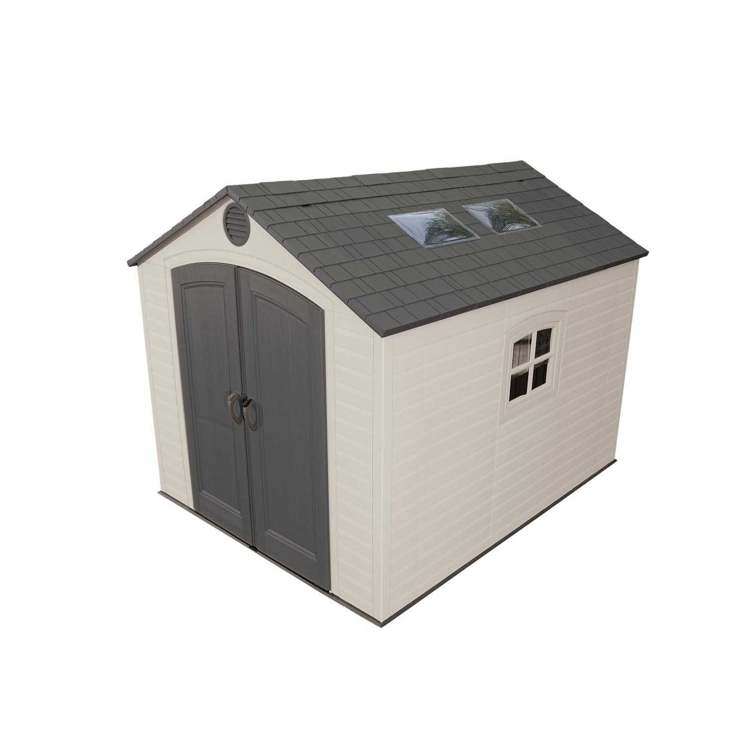6409 71 square ft 491 cubic ft the lifetime 8 39 x for Large plastic sheds