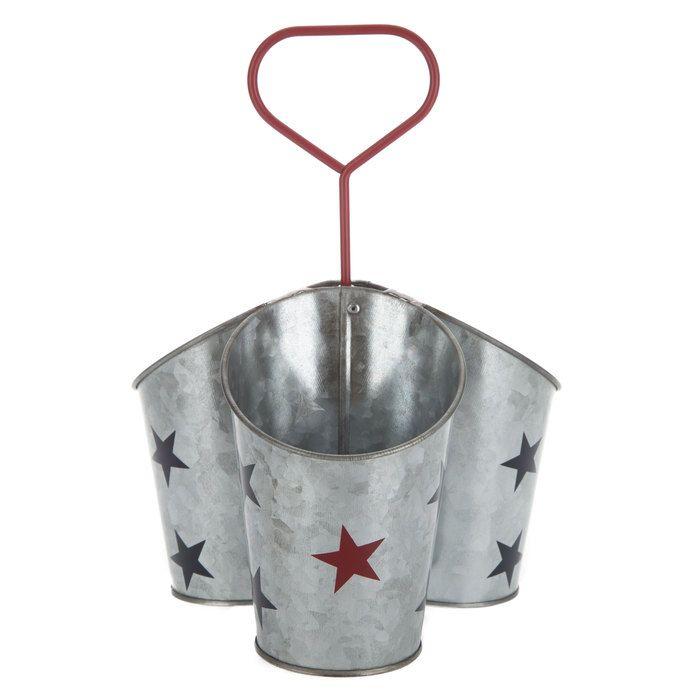 Galvanized Metal 3-Cup Utensil Holder with Stars Hobby Lobby - küchenmöbel günstig online kaufen