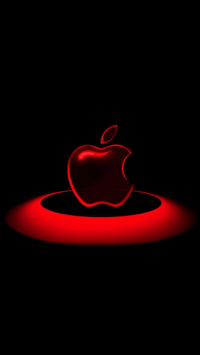 Apel Merah Berkilau Apple Wallpaper Apple Logo Wallpaper Iphone