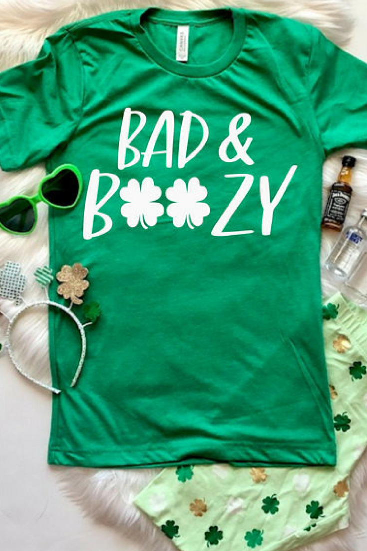 5b9011a42 St. Patricks Day Shirt Women, Bad and Boozy, Let's Get Ready to Stumble,  Let's Day Drink, Shenanigan Enthusiast, St Pattys Day Shirt #ad # stpatricksday ...