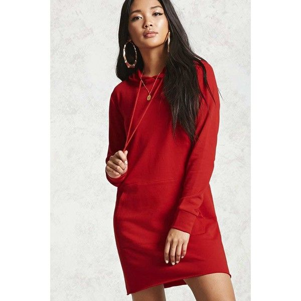 1bc8d20d88f4 Forever21 Raw-Cut French Terry Mini Dress ( 14) ❤ liked on Polyvore  featuring dresses