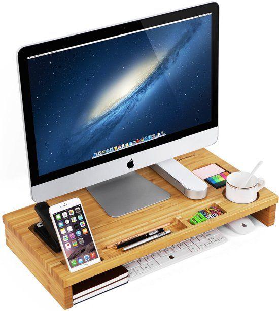 monitor verhoger standaard - laptop beeldschermverhoger - bureau