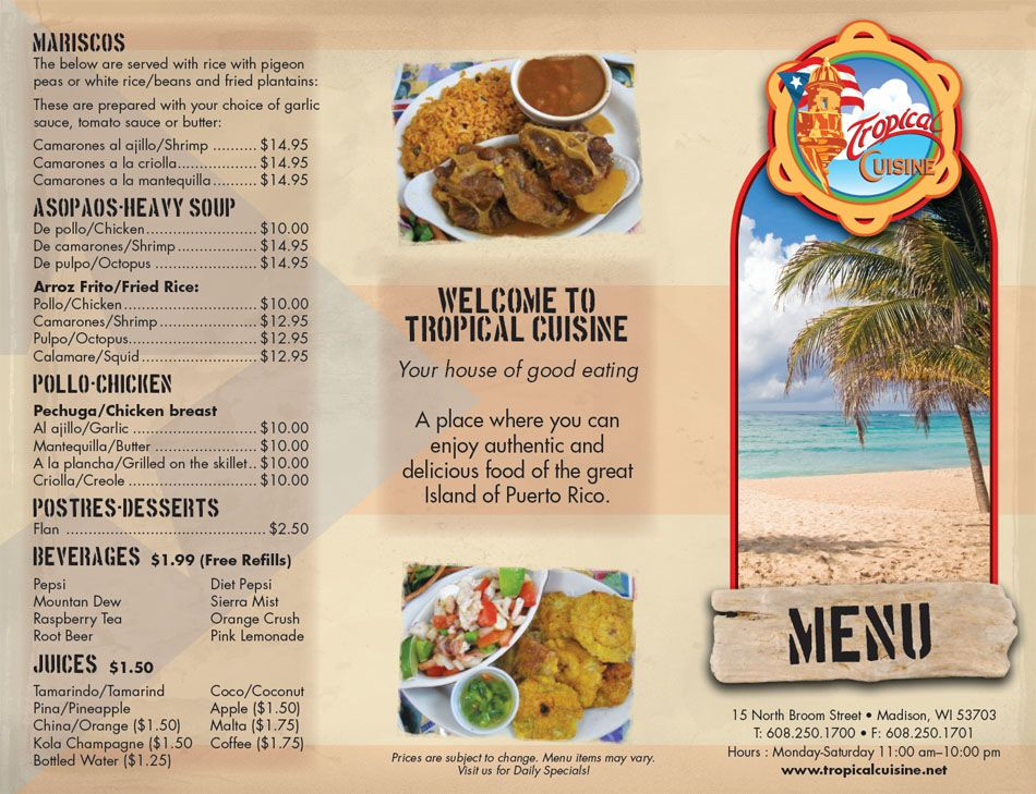 tropical cuisine: the first ever authentic puerto rican restaurant