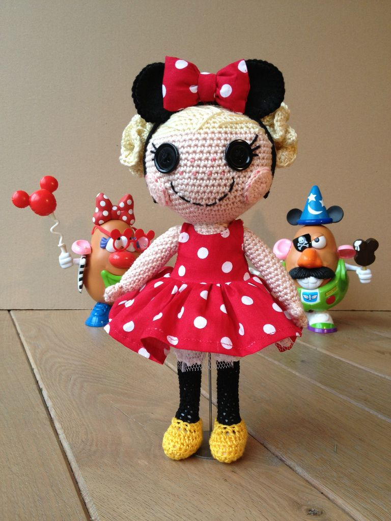 Sweet minnie mouse inspired doll crochet pinterest sweet sweet minnie mouse inspired doll amigurumi dollamigurumi patternscrochet bankloansurffo Choice Image