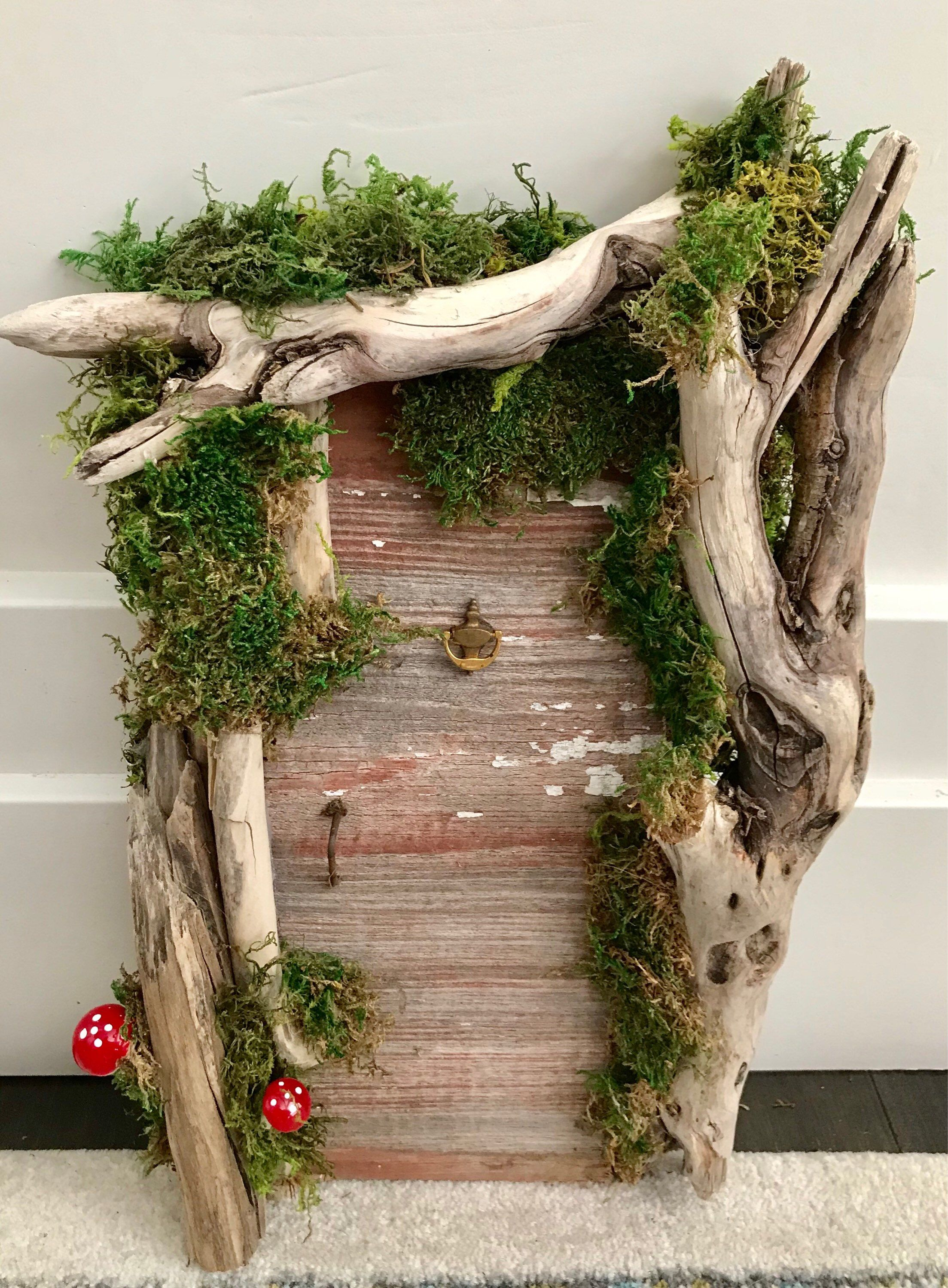 Large Rustic Fairy Doorwedding Woodland Enchanted Forest Fairy Garden Baby