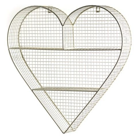 Heart Shelving Unit - Gold ---> super-cute look (from Target - Heart Shelving Unit - Gold ---> Super-cute Look (from Target
