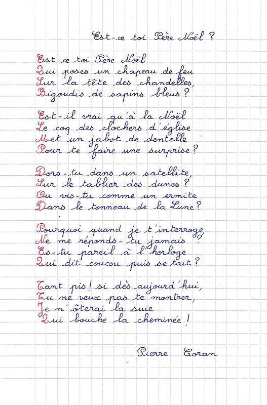 Très Poème pour Noël - Charivari à l'école | Poésie | Pinterest | Poeme  BQ03