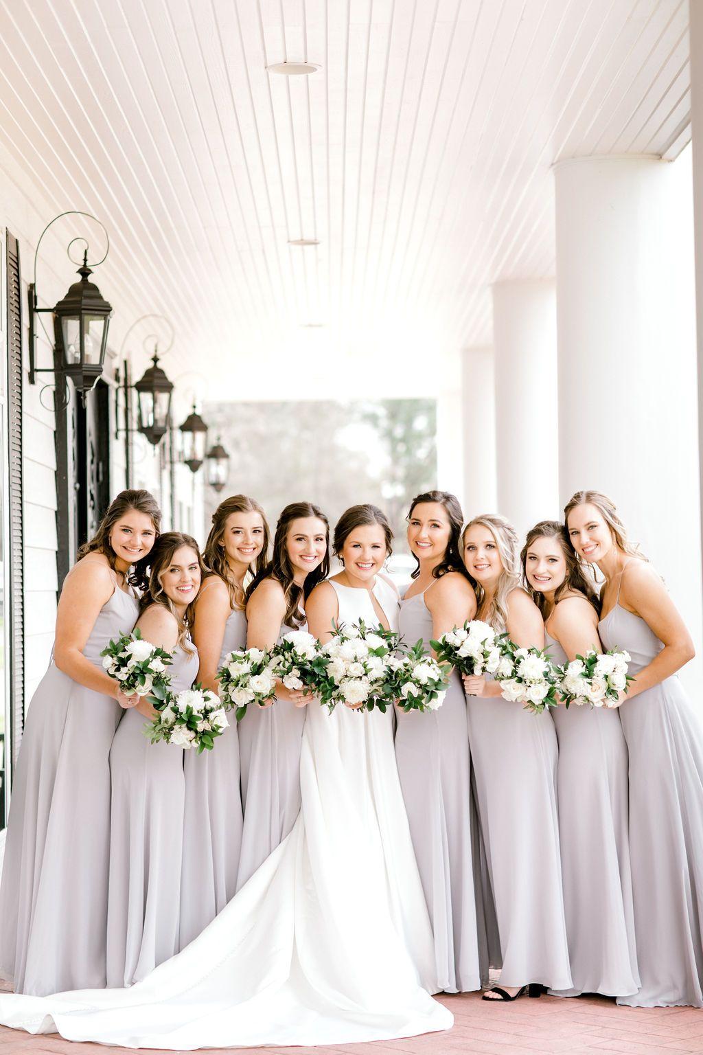 Bridesmaid Dresses Bridesmaid In Pastel Bridal Party Goal Bridesmaid In Light Grey Lig In 2020 Elegant Wedding Venues Pastel Bridal Party Dallas Wedding Venues