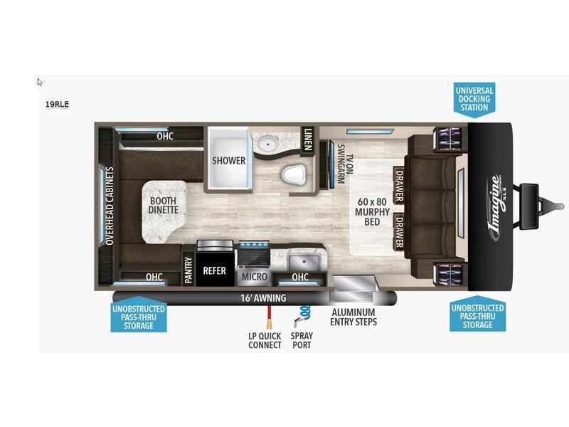 New 2019 Grand Design Imagine Xls 19rle Travel Trailer At Country Creek Rv Marine Hattiesburg Ms 8355 Grand Designs Grand Design Rv Travel Trailer